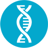 AffinityDNA DNA Helix Icon Accredited DNA Testing